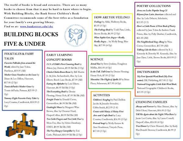 Building Blocks 5 & under
