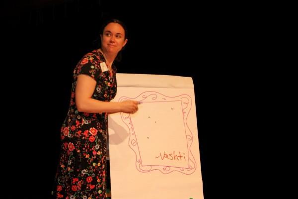 Children's Librarian Allie Bruce as Vashti