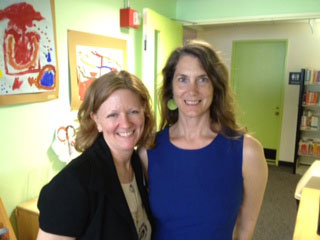 Organizers extraordinaire (l. to r.): CCL Director Jennifer M. Brown and Library Director Kristin Freda