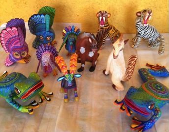Completed figures for upcoming bilingual book on animal sounds